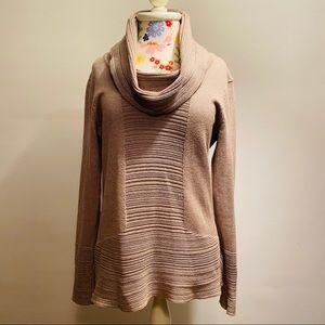Calvin Klein Cotton Blend Cowl Neck Sweater